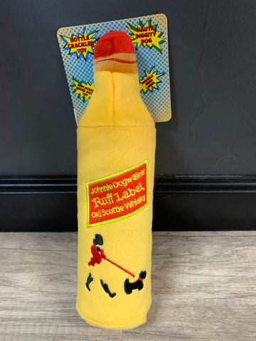 Johnnie Dogwalker Water Bottle Crackler Toy