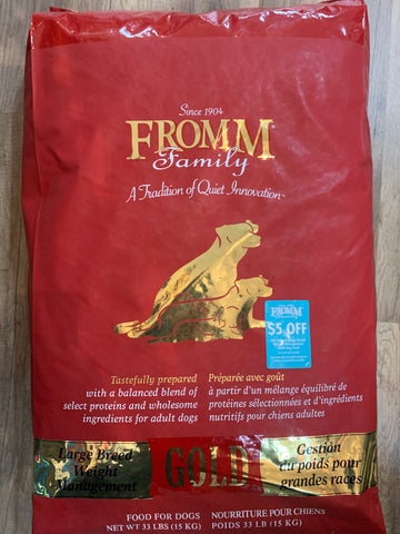 Fromm Dog Gold Weight Management Large Breed 33 Lbs.
