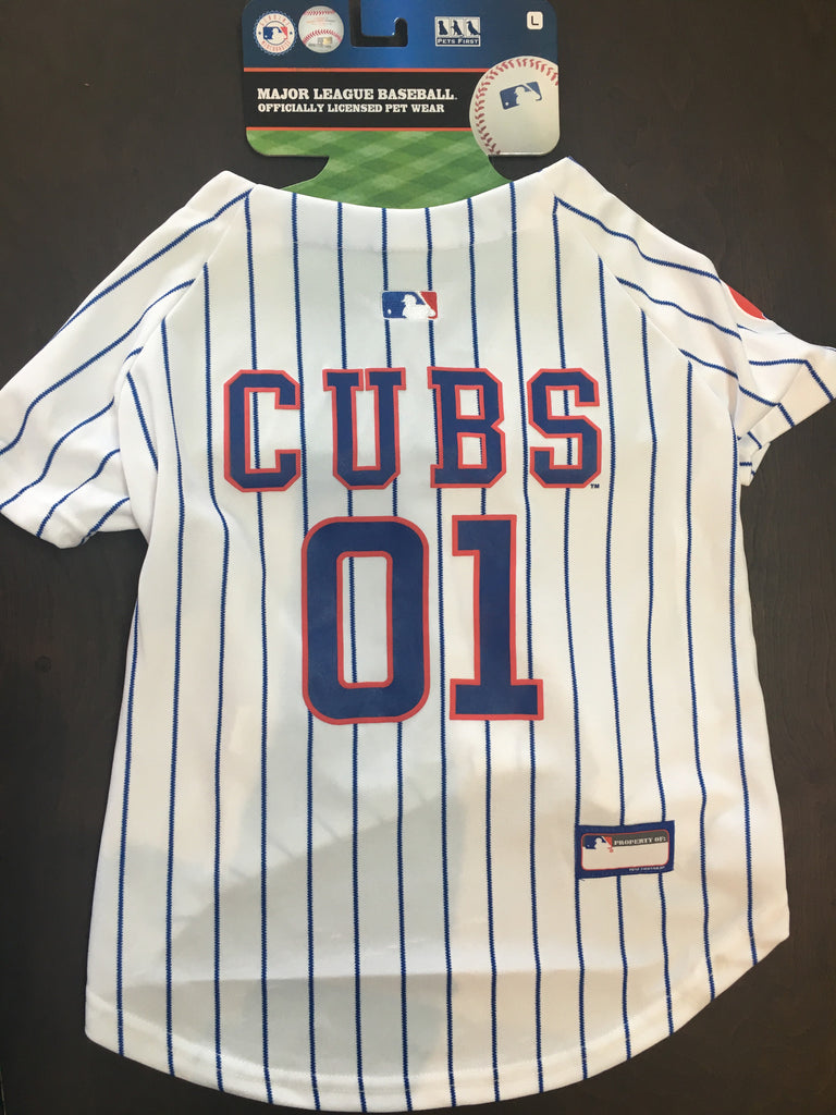 detailed look d5726 b0034 Chicago Cubs Dog Jersey Large
