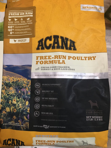Acana Heritage Free Run Poultry 13#