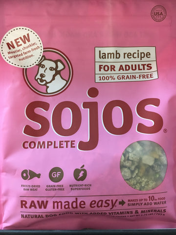 Sojo's Dog Complete Adult Lamb 1.75 Lbs.