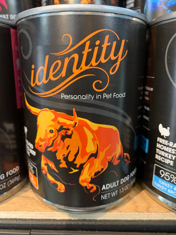 Identity Dog Grass-Fed Angus Beef 95% Can 13oz.