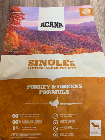 Acana Dog Singles Turkey & Greens 13#