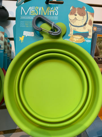 Messy Mutts Collapsible Bowl 3 Cups (Green)