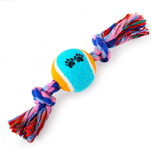 Tennis Ball Knot chew toy - Pets Club