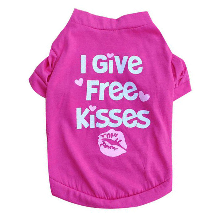 """I Give Free Kisses""  Dog & Cat Shirts - Pets Club"