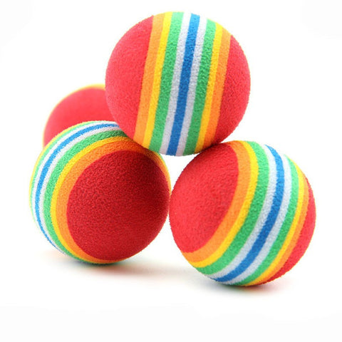 6Pcs Soft Foam Rainbow Play Balls - Pets Club