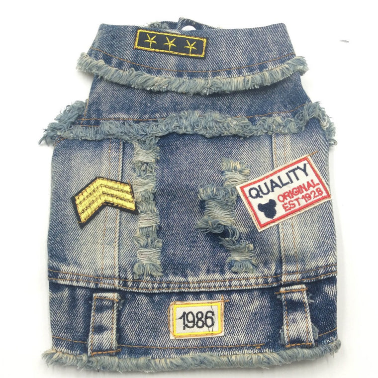 Dog Jeans Jacket - Pets Club