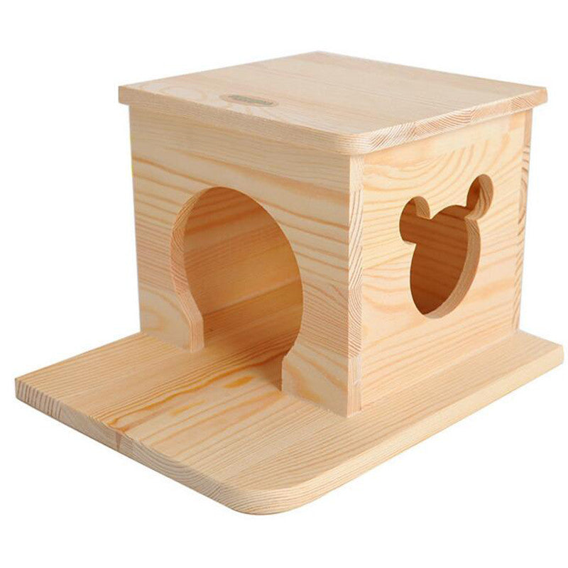Small Animal Wooden Flat House - Pets Club