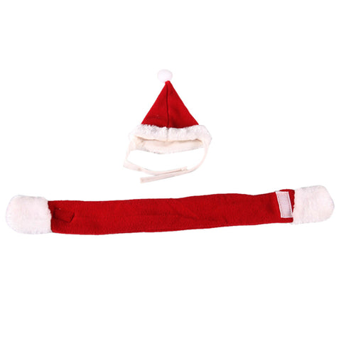 Pets Santa Hat + Scarf Christmas Holiday - Pets Club
