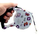 5M Print Striped Safe Outdoor Retractable Leash - Pets Club