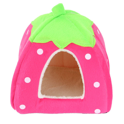 Soft Strawberry Pet House - Pets Club