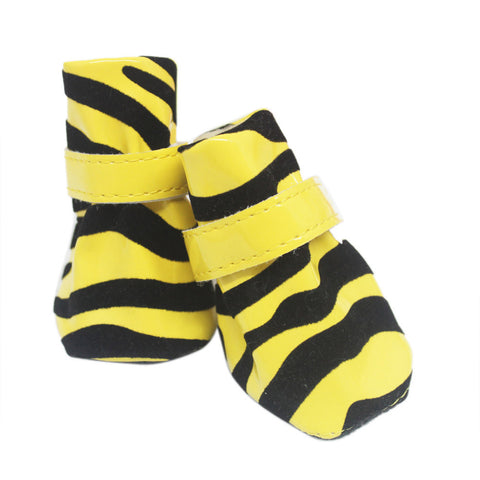 Stripe Winter Warm Dog Shoes - Pets Club