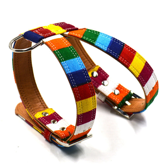 Rainbow  Dog Harness - Pets Club