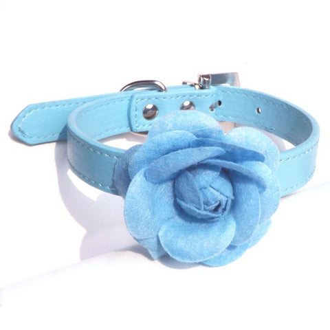 Flower Leather Collar / Necklace For Cats & Dogs - Pets Club