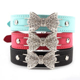 Leather Collars Necklace For Dogs & Cats - Pets Club