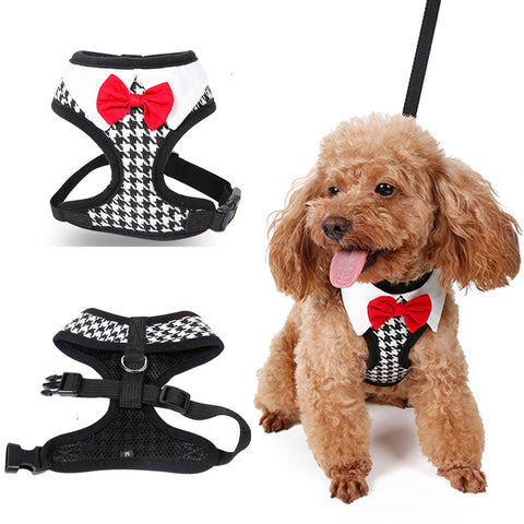 Gentleman Bow Vest Harness - Pets Club