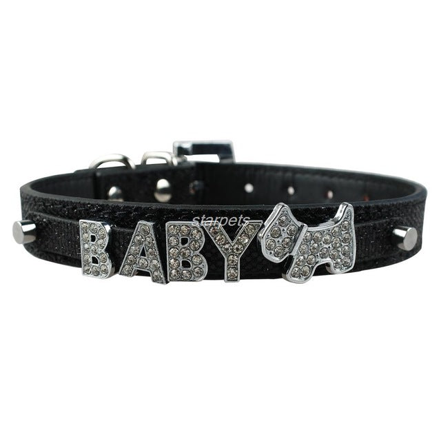 Personalized Rhinestone Pet Name Dog Collar - Pets Club