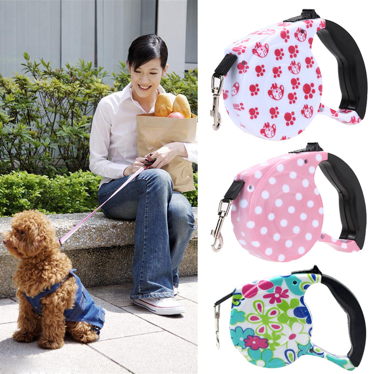 5 M Retractable Walking Lead Leash - Pets Club