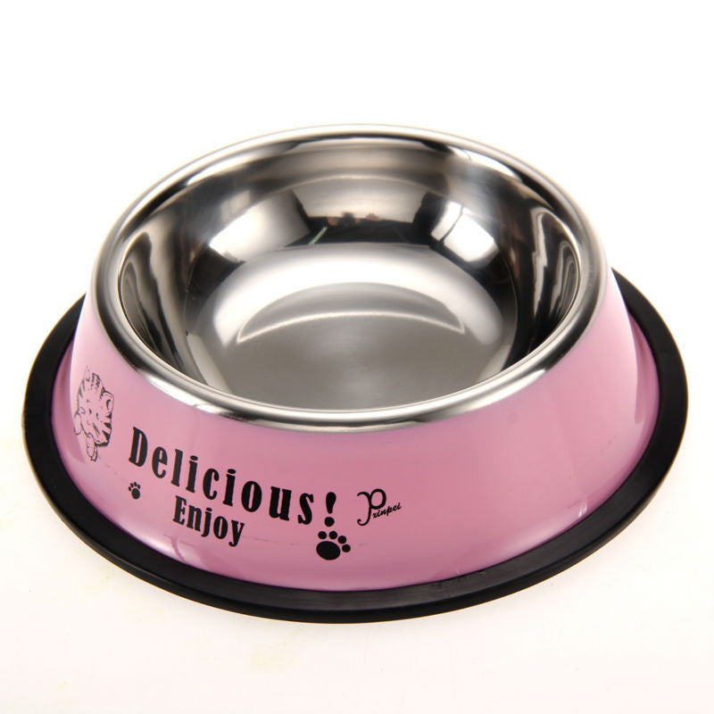 Stainless Steel Anti-skid Feeding/Water Bowl - Pets Club