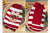 Santa Face Dog Sweater Knit Sweaters - Pets Club
