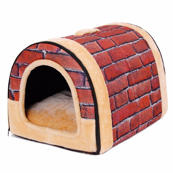 Lovely Soft Brick style Pet Bed - Pets Club
