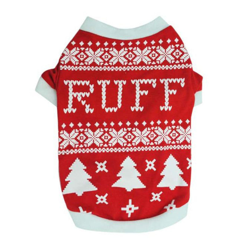 Christmas Ruff T-Shirt For  Dogs & Cats - Pets Club