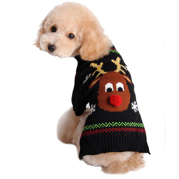 Dog's Christmas Reindeer knitwear Pullover - Pets Club
