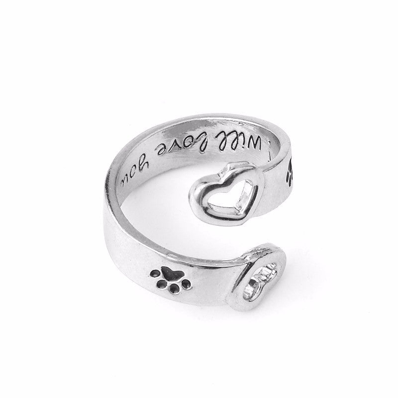 """I will love you forever"" Love Pet  Ring - Pets Club"