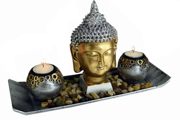 Thai  Buddha Head T - Light
