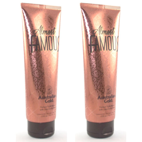 2 Bottle Special - Australian Gold Almost Famous Tanning Lotion