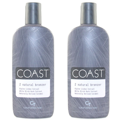 2 Bottle Special - California Tan Coast Step 2 Natural Bronzer Tanning Lotion