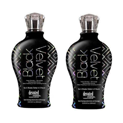 2 Bottle Special - Devoted Creations Black Velvet Mattifying Black Bronzer Tanning Lotion