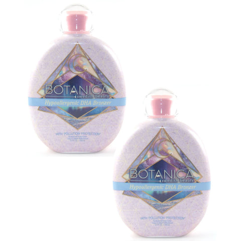 2 Bottle Special - Swedish Beauty Botanica Pollution Protection Hypoallergenic DHA Bronzer Tanning Lotion