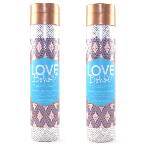 2 Bottle Special - Swedish Beauty Love Boho Positive Vibes DHA Bronzer Tanning Lotion