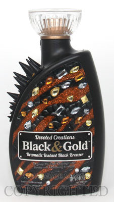 Devoted Creations Black & Gold Tanning Lotion - LuxuryBeautySource.com