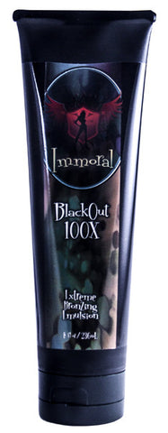 Immoral BlackOut 100X Extreme Bronzing Tanning Lotion - LuxuryBeautySource.com