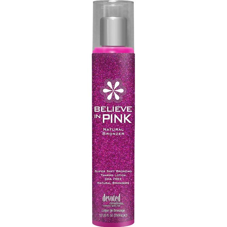 Devoted Creations Believe In Pink Natural Bronzer Tanning Lotion - LuxuryBeautySource.com