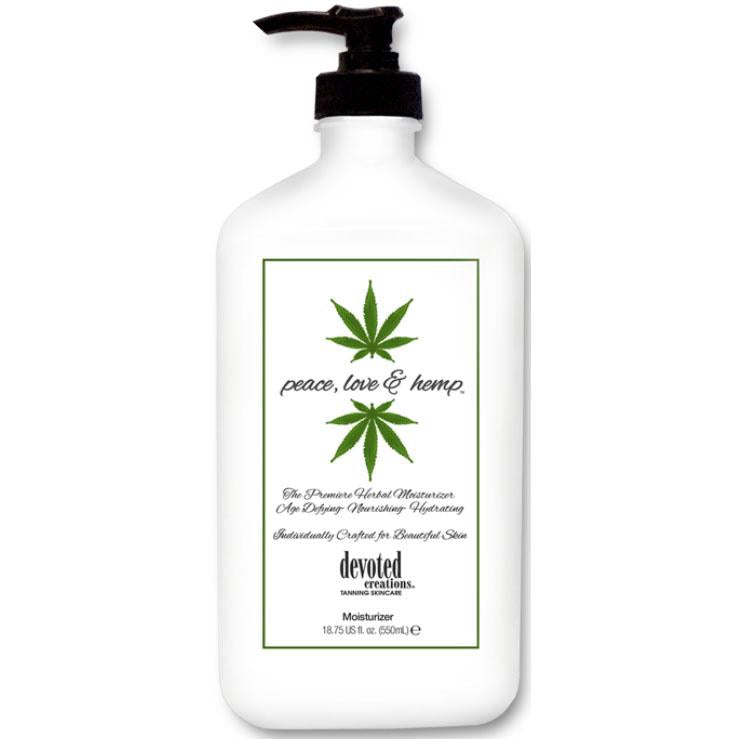 Devoted Creations Peace, Love & Hemp Moisturizer - LuxuryBeautySource.com