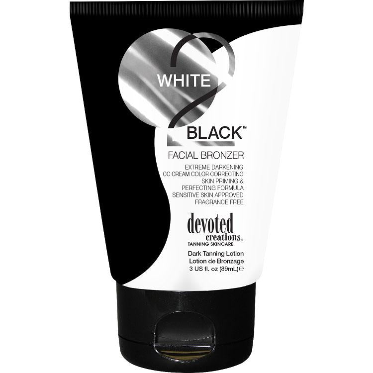 Devoted Creations White 2 Black Facial Bronzer Tanning Lotion - LuxuryBeautySource.com