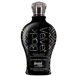 Devoted Creations Black Velvet Mattifying Black Bronzer Tanning Lotion - LuxuryBeautySource.com