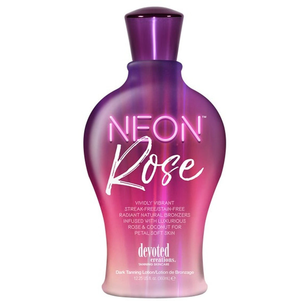 Devoted Creations Neon Rose Natural Bronzer Tanning Lotion - LuxuryBeautySource.com