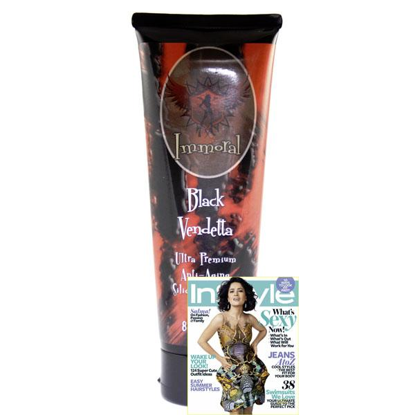 Immoral Black Vendetta 300XX Advanced Anti-Aging Tanning Lotion Bronzer - LuxuryBeautySource.com
