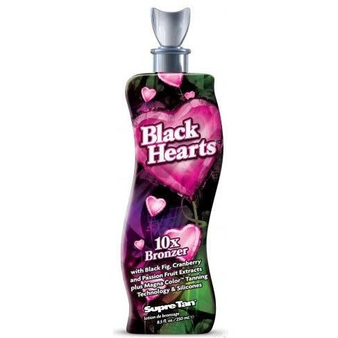 Supre Tan Black Hearts Tanning Lotion - LuxuryBeautySource.com
