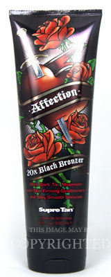 Supre Affection 20X Black Bronzer Tanning Lotion - LuxuryBeautySource.com