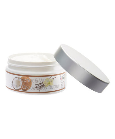 Fresh & Natural Shea & Cocoa Body Butter 8Oz - LuxuryBeautySource.com
