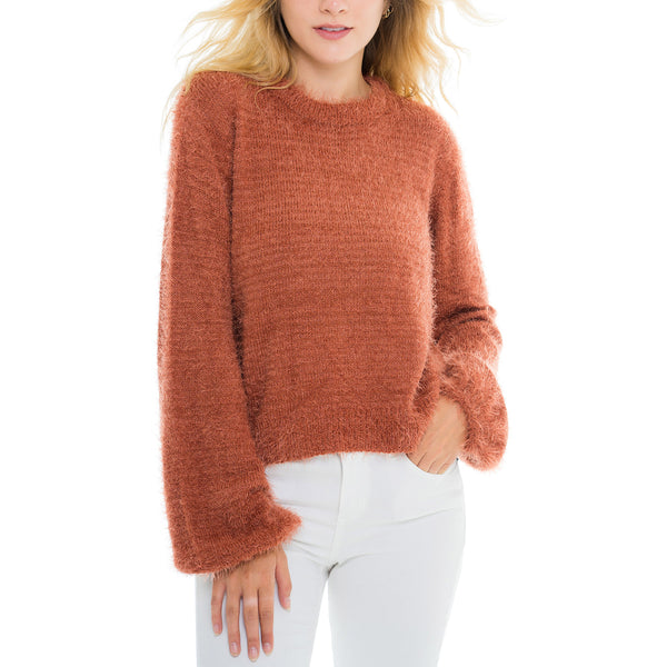 Woven Heart Eyelash Sweater