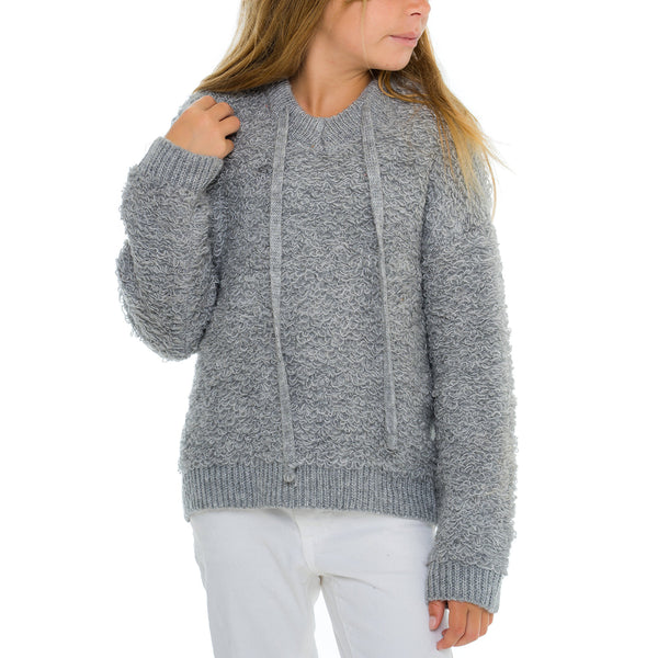 Woven Heart Girls Hooded Pullover