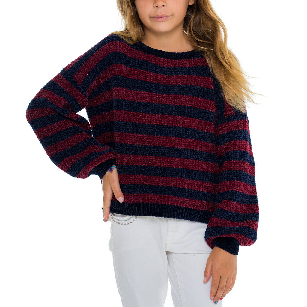 Woven Heart Girls Stripe Pullover Sweater