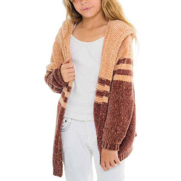 Woven Heart Girls Hooded Cardigan